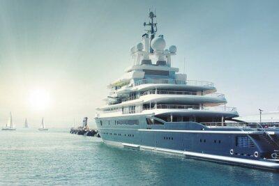 Obraz luxury super yatch