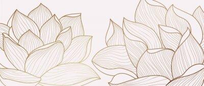 Obraz Luxury wallpaper design template. Design for packaging design, social media post, cover, banner, creative post, Gold geometric pattern design vector