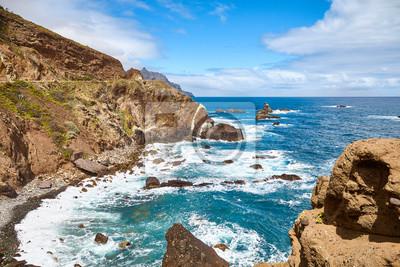 Macizo de Anaga mountain range Atlantic Ocean coast of Tenerife, Spain.