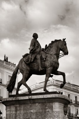 Madrid Puerta del Sol King Carlos III statue