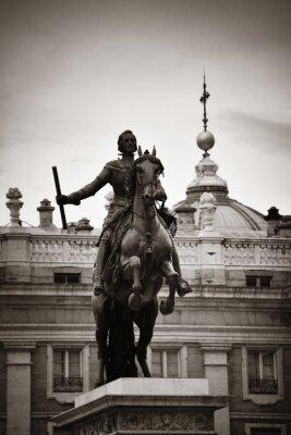 Madrid Royal Palace Felipe IV statue