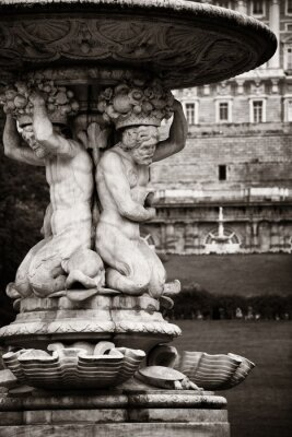 Madrid Royal Palace fountain