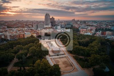 Madrid Temple Of Debod aerial view