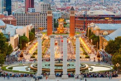 Obraz Magic Fountain w Barcelonie.
