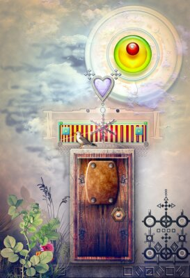 Obraz Magiczne drzwi w polu mglisty