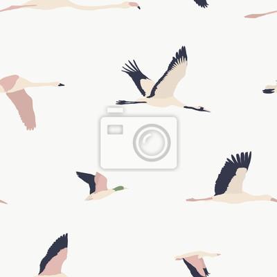 Maison de fleurs. Ptaki bez szwu wzór # 14