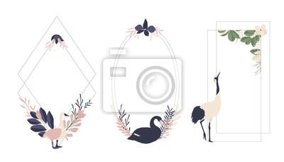 Maison de fleurs. Ramki geometryczne kwiatów i kwiatów # 2