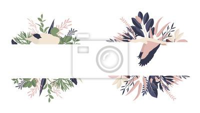 Maison de fleurs. Ramki geometryczne kwiatów i kwiatów # 3