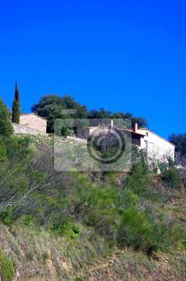 Obraz maison du sud de la france et ciel bleu de lavande - Maison du sud de la france ...