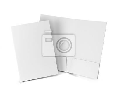 Obraz Makieta folderu pustego papieru