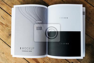 Obraz Makieta strony magazynu tekstury fali