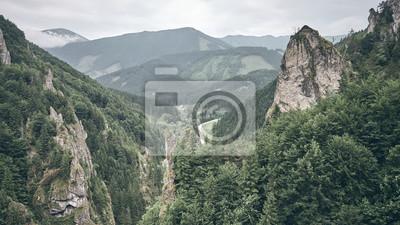 Mala Fatra mountain scenery, color toning applied, Slovakia.