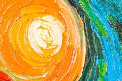 Obraz Malarstwo abstrakcyjne z okręgów.