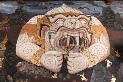 Malarstwo ścienne w świątyni Szmaragdowego Buddy