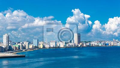 Obraz Malecon i panoramę Hawanie na Kubie