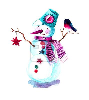Malowane Boże Narodzenie z bałwana