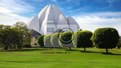 Obraz Malowniczy krajobraz z Lotus Temple. New Delhi