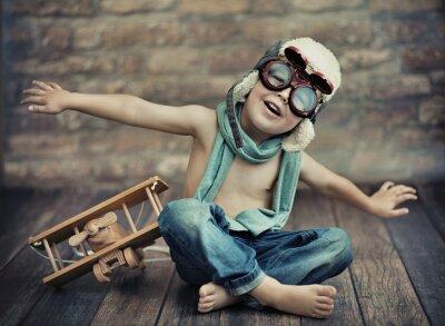 Obraz Mały chłopiec gry