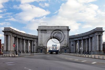 Manhattan Bridge wejście w Nowym Jorku