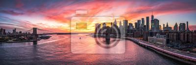 Obraz Manhattan i Most Brooklyński Panorama w Miasto Nowy Jork, usa