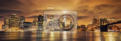 Obraz Manhattan na zachodzie słońca