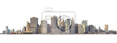 Obraz Manhattan skyline isolated on white.