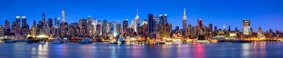 Obraz Manhattan skyline panorama w nocy