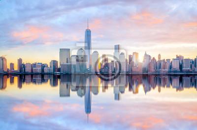 Obraz Manhattan Skyline z budynku One World Trade Center o zmierzchu