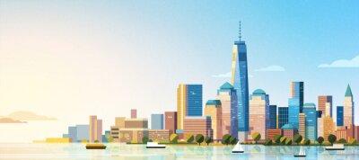 Obraz Manhattan west skyline scene