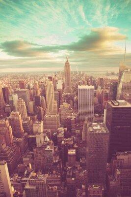Obraz Manhattan z rocznika tonu