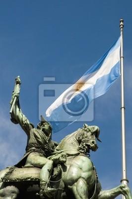 Manuel Belgrano pomnik, twórca banderą argentyńską.