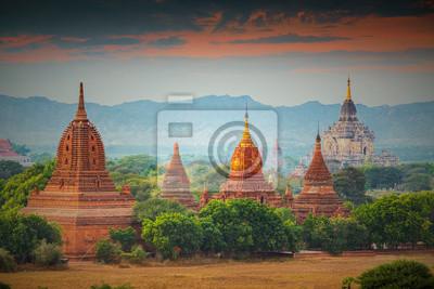 Many temples in Bagan Area , Myanmar.