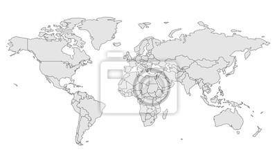 Obraz map template for web site pattern, infographics. Globe similar world map icon. Travel worldwide, map silhouette backdrop.