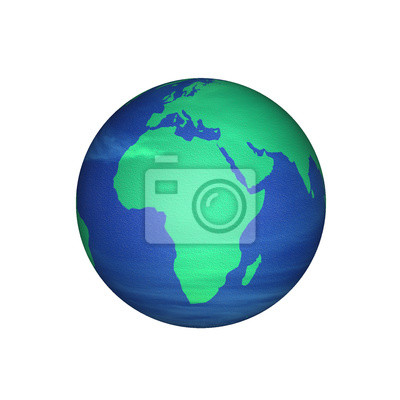 Obraz Mapa Afryki na ziemię renderowania 3D