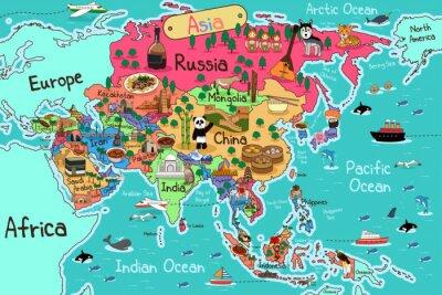 Obraz Mapa Azji