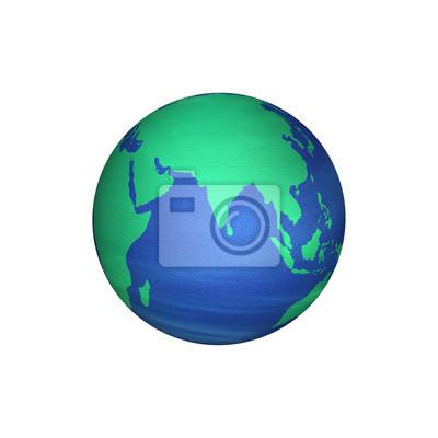 Obraz Mapa Azji na ziemię renderowania 3D