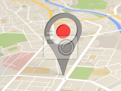 Obraz Mapa Locator ikona