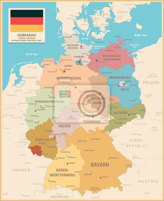 Mapa Niemiec.