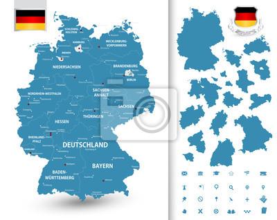 Mapa Niemiec z pierzasty