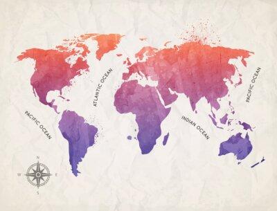 Obraz Mapa świata 06