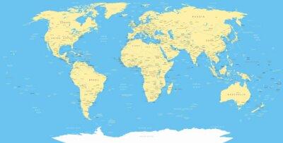 Obraz Mapa świata i ikony nawigacyjne - ilustracji.