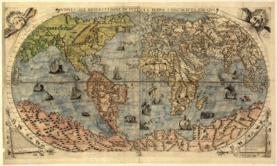 Obraz Mapa świata starożytnego