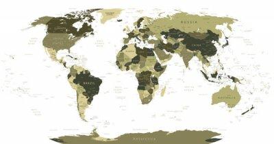 Obraz Mapa świata w kolorach maskujących