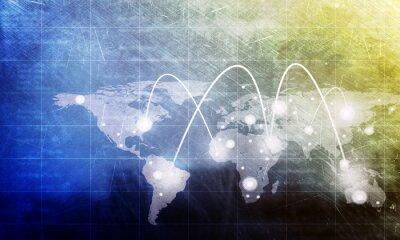 Obraz Mapa świata z plamami
