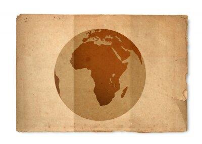 Obraz Mapa świata z rocznika tekstury papieru
