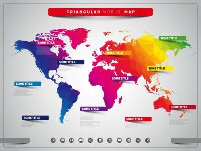 Obraz Mapa trójkątne-info
