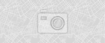 Obraz Mapa ulic miasta
