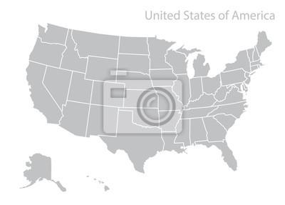 Obraz Mapa USA