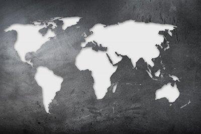 Obraz mappa Mondiale su lavagna