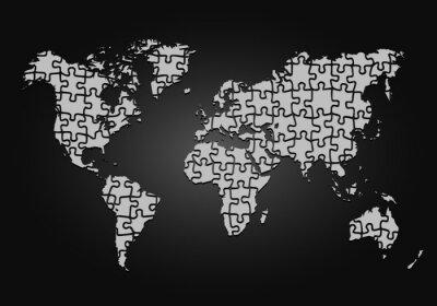 Obraz Mappemonde puzzle - redefinicja des frontières - vectoriel